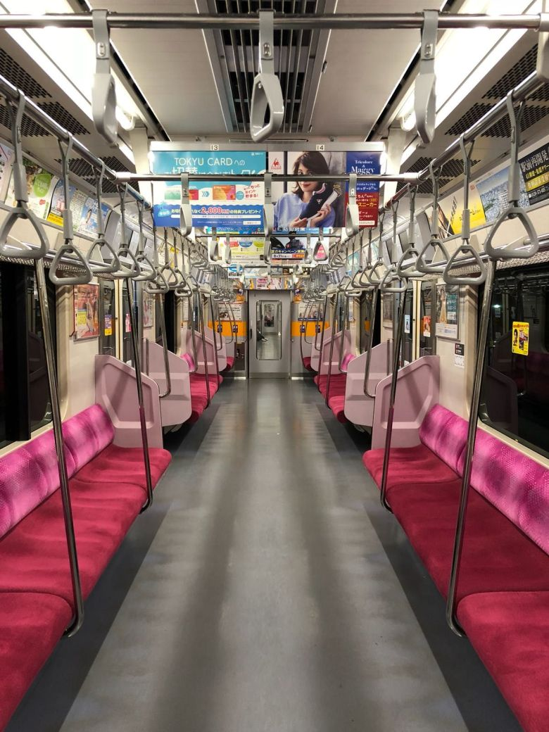 Japanese train, inside