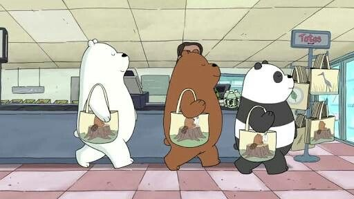 we bare bears tote life