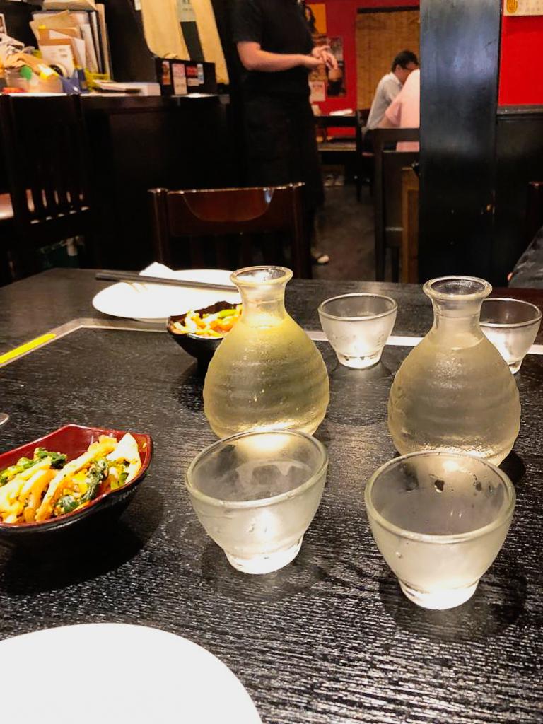 Japanese Sake in Okonomiyaki Zen Tokyo Japan
