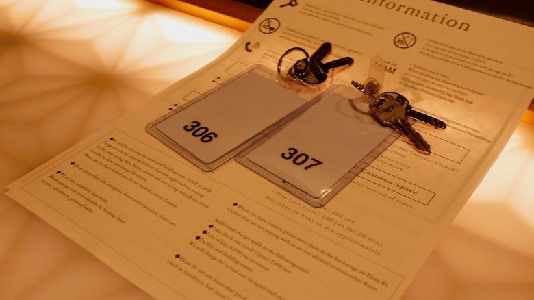 Hotel Zen Tokyo keys